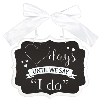 Image de COUNT DOWN TO I DO CHALKBOARD SIGN