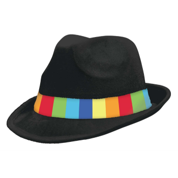 Picture of RAINBOW FELT FEDORA HAT