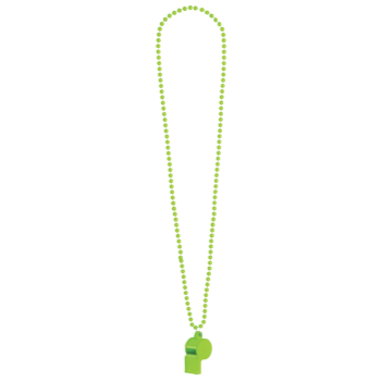 Image de NEON WHISTLE ON BEAD NECKLACE