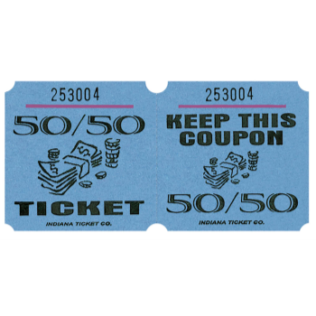 Image de 50/50 TICKETS ROLL BLUE -   (1000/rl)