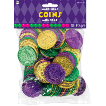 Picture of MARDIS GRAS COINS - PURPLE/GOLD/GREEN