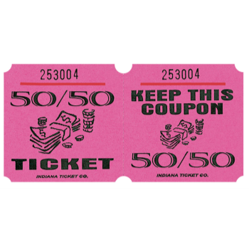 Picture of 50/50 TICKETS ROLL PINK - (1000/rl)