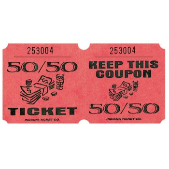 Picture of 50/50 TICKETS ROLL RED - (1000/rl)