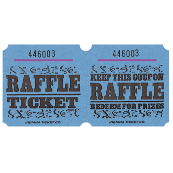 Picture of RAFFLE TICKETS ROLL BLUE -   (1000/rl)