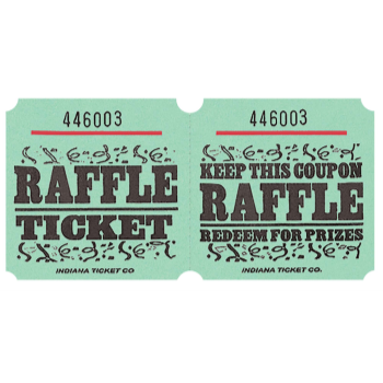 Picture of RAFFLE TICKETS ROLL GREEN -   (1000/rl)