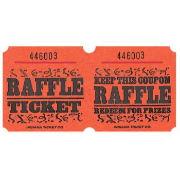 Picture of RAFFLE TICKETS ROLL ORANGE -   (1000/rl)