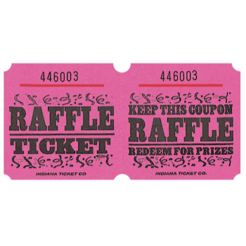 Picture of RAFFLE TICKETS ROLL PINK -   (1000/rl)