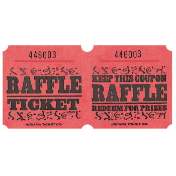 Picture of RAFFLE TICKETS ROLL RED -   (1000/rl)