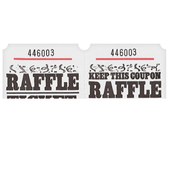 Picture of RAFFLE TICKETS ROLL WHITE -   (1000/rl)