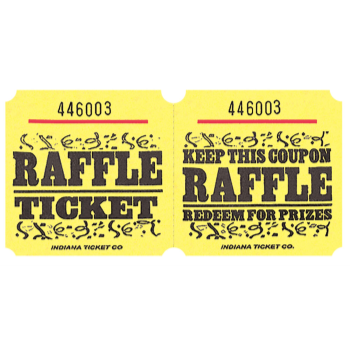 Image de RAFFLE TICKETS ROLL YELLOW -   (1000/rl)