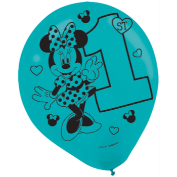 """Image de MINNIE FUN TO BE ONE - 12"""" LATEX BALLOONS"""