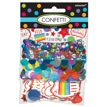 Picture of HAPPY BDAY RAINBOW CONFETTI VALUE PACK