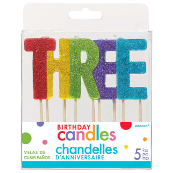 Picture of GLITTER PICK CANDLE - THREE