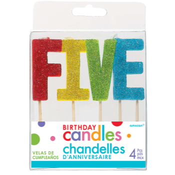 Picture of GLITTER PICK CANDLE - FIVE