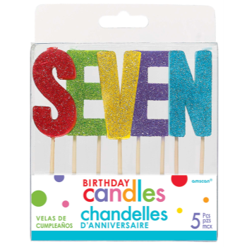 Picture of GLITTER PICK CANDLE - SEVEN