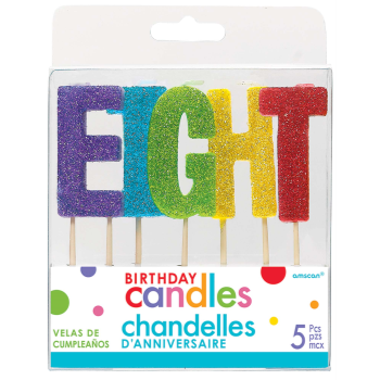 Picture of GLITTER PICK CANDLE - EIGHT
