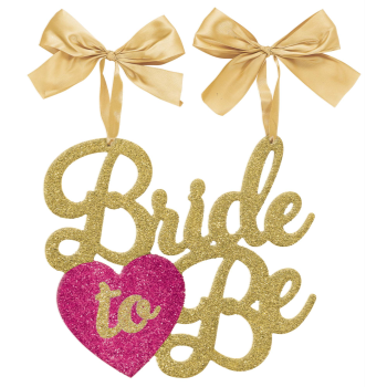 Image de BRIDE TO BE GOLD GLITTER CHAIR SIGN