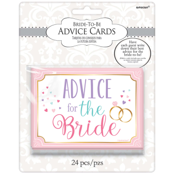 Picture of BRIDAL SHOWER ADVICE CARDS 24CT