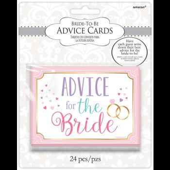 Image de BRIDAL SHOWER ADVICE CARDS 24CT