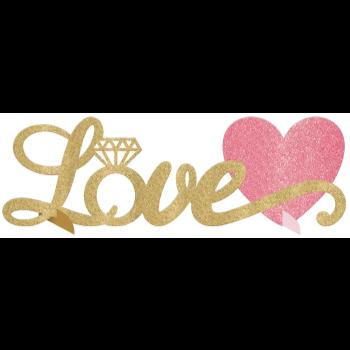 Picture of LOVE TABLE DECO - GOLD GLITTER