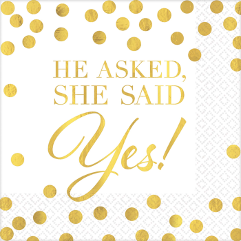 Picture of HE ASKED SHE SAID YES HOT STAMP BN