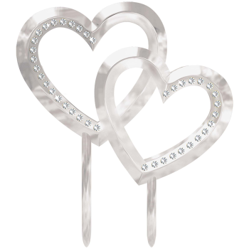 Picture of DOUBLE HEART CAKE TOPPER