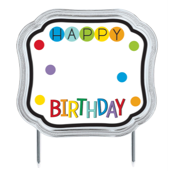 Picture of DECOR - RAINBOW BIRTHDAY ADD ANY AGE CAKE TOPPER
