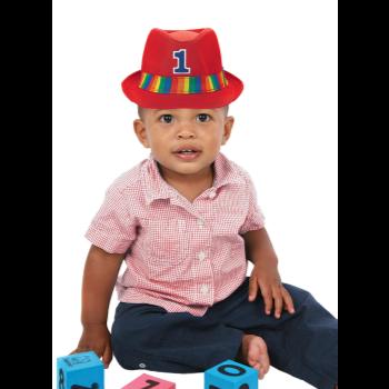 Image de WEARABLES - 1ST BIRTHDAY RAINBOW FEDORA HAT