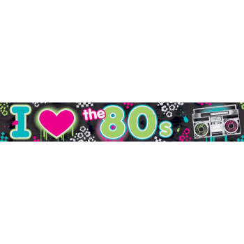 Picture of 80'S -  25' FOIL BANNER
