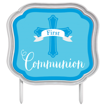 Picture of DECOR - COMMUNION CAKE TOPPER - BLUE