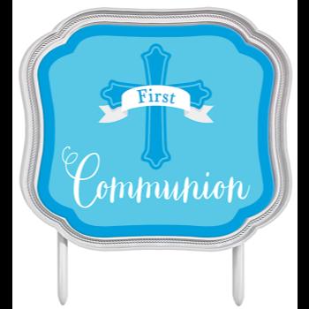 Image de DECOR - COMMUNION CAKE TOPPER - BLUE