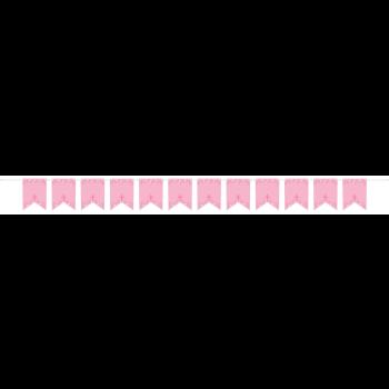 Image de DECOR - COMMUNION PERSONALIZED BANNER - PINK