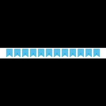 Image de DECOR - COMMUNION PERSONALIZED BANNER - BLUE