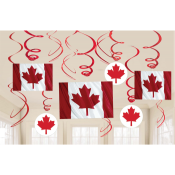 Picture of CANADA DAY SWIRLS