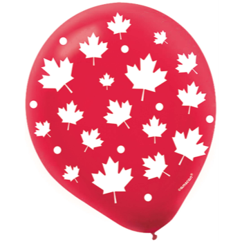"Image de 12"" LATEX BALLOONS CANADA DAY"