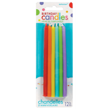 "Image de 5"" TAPER CANDLES - PRIMARY 12CT"