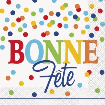 Picture of BONNE FÊTE SERVIETTES  À POIS MULTIPLES