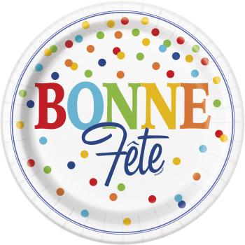 Picture of BONNE FÊTE ASSIETTES  À POINTS MULTIPLES