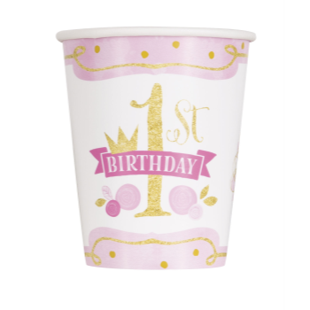 Image de 1st BIRTHDAY PINK AND GOLD - 9oz CUPS