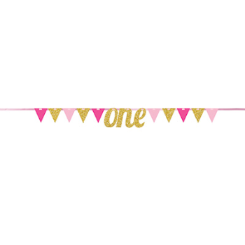 Image de DECOR - ONE PENNANT BANNER - PINK AND GOLD