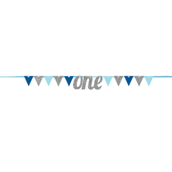 Image de DECOR - ONE PENNANT BANNER - BLUE AND SILVER