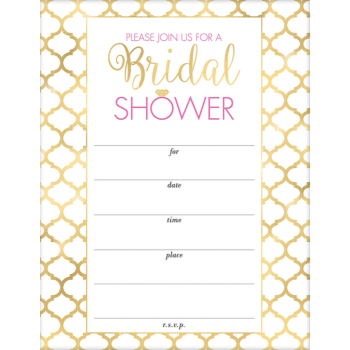 Image de BRIDAL SHOWER INVITATIONS - 20PK