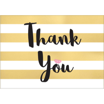 Picture of GOLD STRIPE THANK YOU CARDS  - 8CT