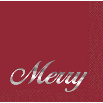 Image de TABLEWARE - ELEGANT RED CHRISTMAS - BEVERAGE NAPKINS