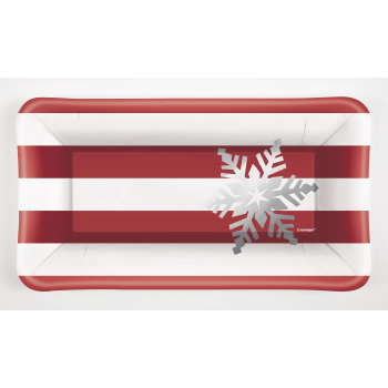Image de TABLEWARE - ELEGANT RED CHRISTMAS RECTANGULAR APPETIZER PLATES