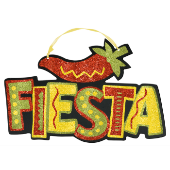Picture of FIESTA GLITTER HANGING SIGN