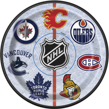 """Picture of NHL - 7""""  ROUND PLATES"""