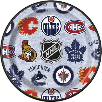 """Picture of NHL  - 9"""" ROUND PLATES"""