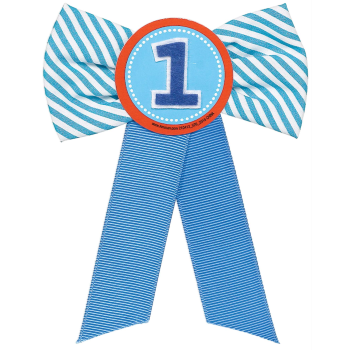 Image de WEARABLES - RIBBON PIN - FIRST BIRTHDAY BLUE