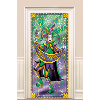 Picture of MARDIS GRAS DOOR CURTAIN - WELCOME